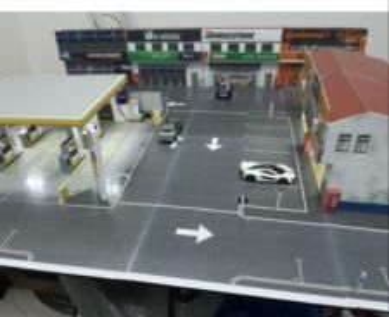 Diorama minitown led