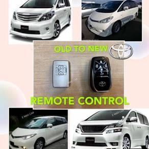Toyota vellfire alphard convert alarm remote cover