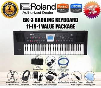 ROLAND BK3 Keyboard Piano Value Package