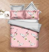 Bedding Set Fitted Bedsheet Pillow Cases