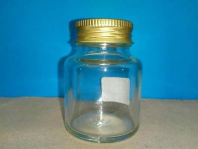 Botol kaca 40ml dgn Cap Aluminium