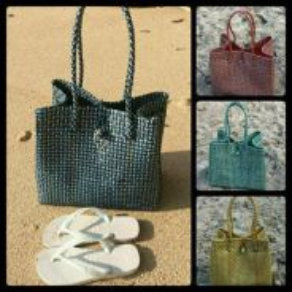 Handmade Bag using recycled plastic