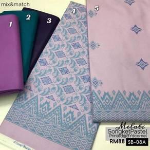 Kain Cotton Songket Printed SB-05A, 08A