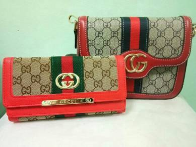 Set gucci bag & wallet