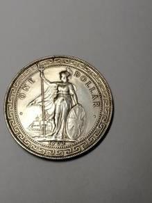1902 Great Britain one trade Dollar Hong Kong