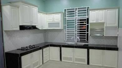 Kabinet dapur kayu nyatoh solid