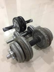 Dumbbell & wheel roller