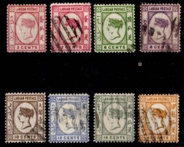 LABUAN (NORTH BORNEO) - QV 1892-94 -2c-40c BK826