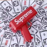 Supreme Money Gun Red Pistol Duit Kertas Wow