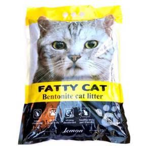 Fatty Cat Bentonite Cat Litter Lemon Pack 10L