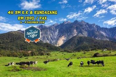 Pakej : 4H 3M Kota Kinabalu & Kundasang, Sabah