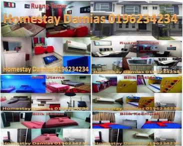 Homestay/rumah/bilik sewa hari keluarga/family day/murah