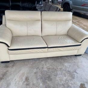 Sofa 3seater kulit