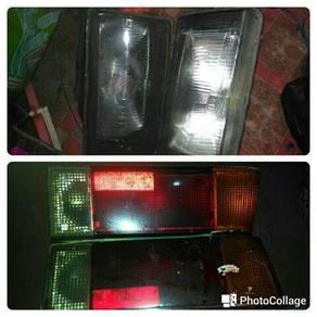 Sepasng lampu depan belakang saga 12v.