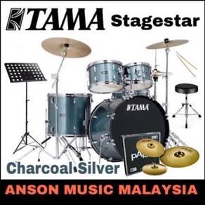 Tama Stagestar Drum Set w/Paiste 101,Charcoal Svr