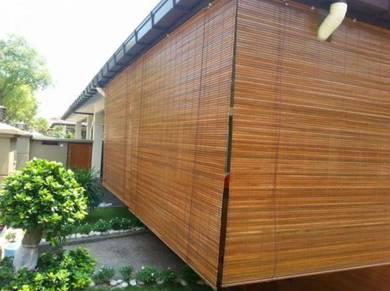 Bidai Buluh, Bamboo Blind Tahan Cuaca Panas/Hujan