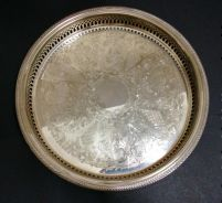 Vintage Silver Plated Tray with Galleried Sides