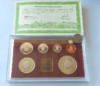 Set Syiling Proof Brunei 1985