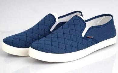 FA0248 Dark Blue Simple Slip On Loafer Kasut Shoes