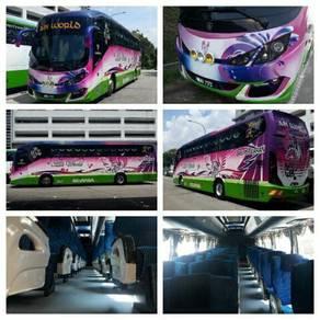 Sewa bus / Rental bus hire transfer