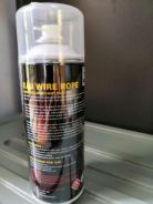 Wire rope spray lubricant