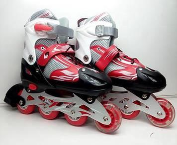 Rollerblade Adjustable RED / Kasut Roda Berlampu=-
