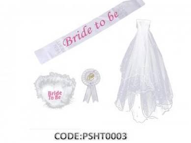 Bride to Be Party Decoration Set 4Pcs