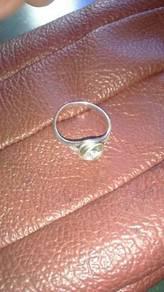 Cincin silver campuran emas putih 925 untuk wanita
