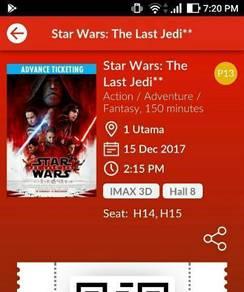 IMAX 3D Star Wars The Last Jedi tickets