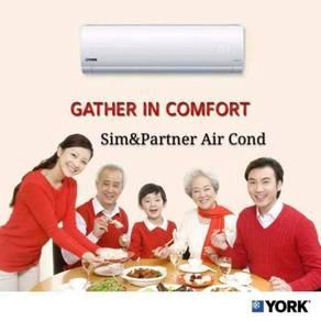 Ready stock*york aircond air cond free install