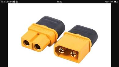 Nylon XT60h connector with cap Per pair