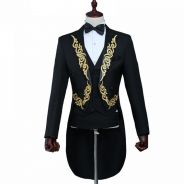 Mens Embroidery Tuxedos Blazer & Pant
