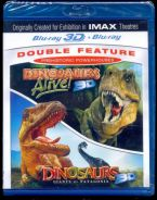 IMAX Dinosaurs Double Feature Blu-Ray 3D - New
