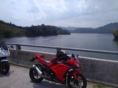 Kawasaki 250r red low milleage stock ori