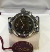 Cartier Pasha watch in stainless steel