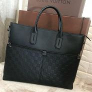 Lv Louis Vuitton office bag with long strap