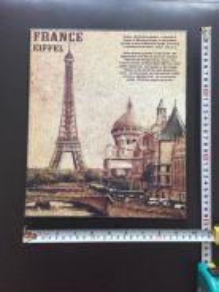 Wooden poster - Eiffel tower