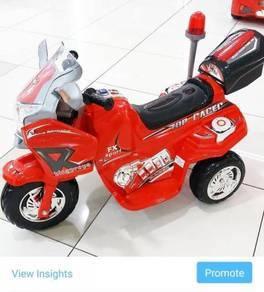 Children Bike Big Motor Kanak-Kanak like police%^(