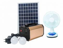 Multi-Function Mobile Solar Power Station with Fan