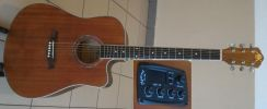 A&K Semi Acoustic Guitar 41 Inch 330E