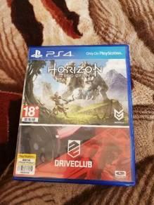 Ps4 Games - Horizon Zero Dawn And Drive Club