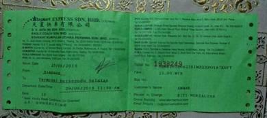 Tiket Bas Starmart Simpang,Perak-KL
