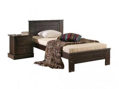 Katil kayu single divan base perabot 427