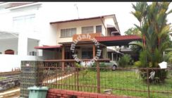 Semi D double storey partially furnished