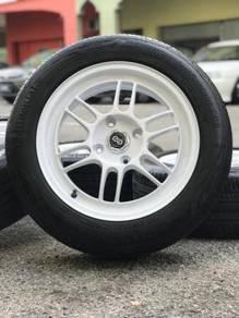 Enkei rpf1 16 inch sports rim persona tyre 80%