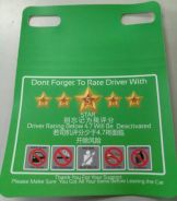 car Rating Sign (plastic material) 2pcs