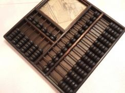 Sempoa Two Abacus with Photo Square Shapes