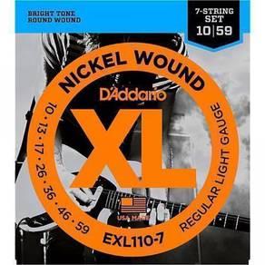 D'Addario EXL110-7 Nickel Wound, 7-String, Regula