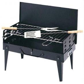 Portable Barbeque Set Black