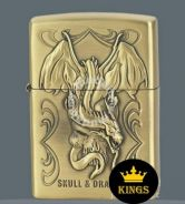 Zippo lighter SKULL and dragon1